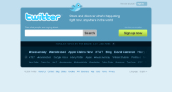 La nuova homepage di twitter